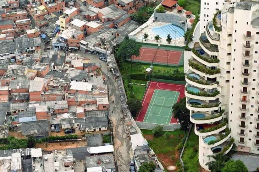 Poverty and wealth next door to each other in Brazil