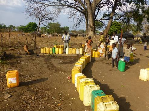 Queuing for water