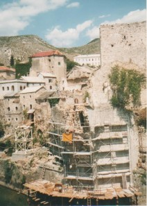 Mostar bridge destroyed