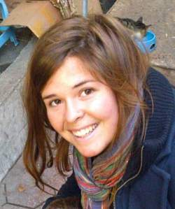 Kayla Mueller, 26, an American humanitarian worker from Prescott, Arizona is pictured in this undated handout photo