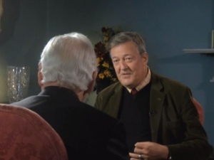 Stephen Fry and Gay Byrne