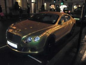 Gold Bentley